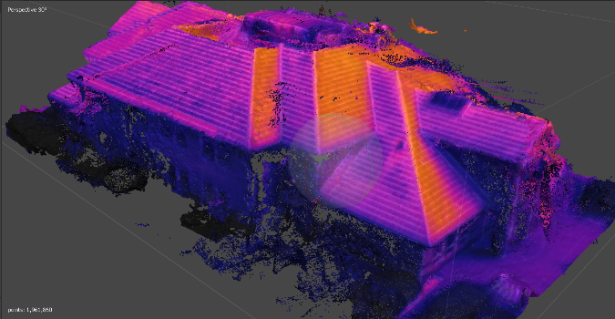 Thermal 3D image of building