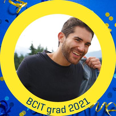 Grad profile picture in BCIT frame
