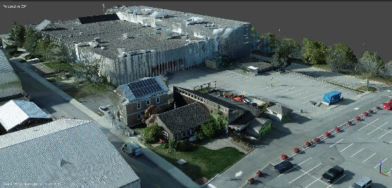 3D model of buildings and surrounding area
