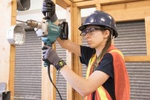 Woman in Electrical program