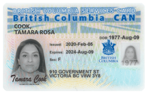BC Services Card example