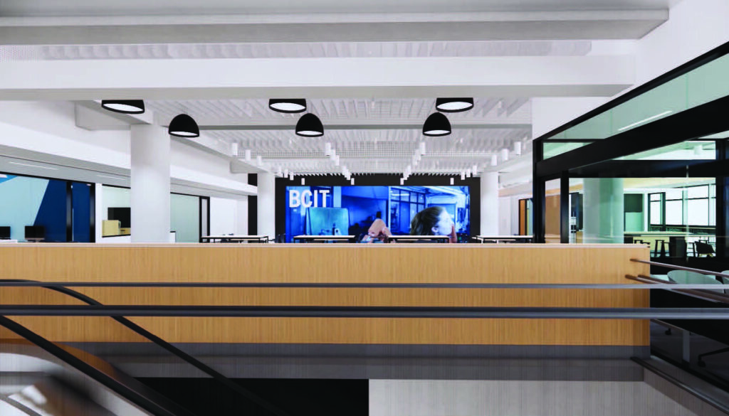 Artists rendering of the completed renovations at the Downtown Campus